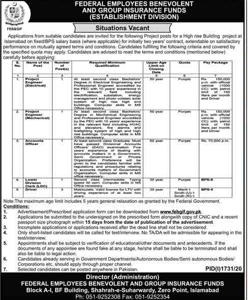 Federal Employees Benevolent And Group Insurance Funds Jobs 2020