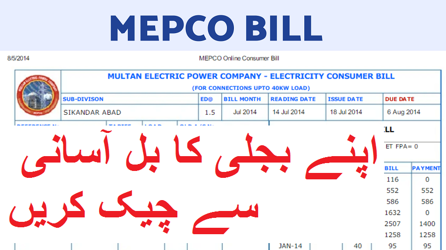 Check electricity bill Online