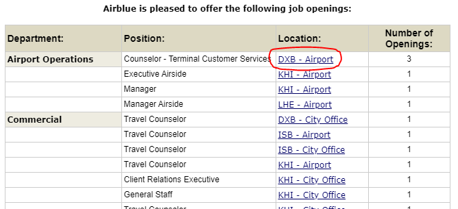 Career Opportunities in Airblue International Airline Jobs November 2020