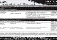University of Gujrat UOG Research Assistant Jobs 2020